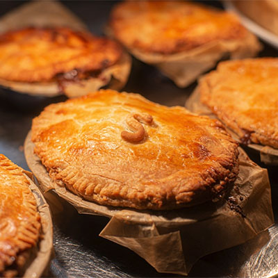 Pies - Melt-in-the-mouth pastry, fillings using the finest ingredients from local farmers
